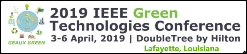 The IEEE Green Technologies Conference provides an open forum for the Engineering Community, Researchers, Innovators, and regulators around the world to collaborate on the development and deployment of sustainable Green Technologies.  The Engineering Community, Researchers, and Innovators around the world are actively developing and applying economically sustainable Green Technology solutions to a number of global problems.  Researchers report rising CO2 levels in the world are causing climate issues.  Global dependance on finite fossil fuels for energy production and transportation fuel, much of which comes from unstable countries, continues to result in wildly fluctuating energy costs.  Green Technologies are the underlying solutions to many of the concerns of the global community.