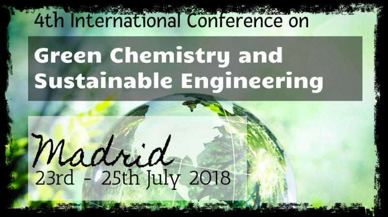The event has the objective of creating an international forum for academics, researchers and scientists from worldwide to discuss worldwide results and proposals regarding to the soundest issues related to Green Chemistry and Sustainable Engineering.  This event will include the participation of renowned keynote speakers, oral presentations, posters sessions and technical conferences related to the topics dealt with in the Scientific Program as well as an attractive social and cultural program.  The papers will be published in the Abstracts E-book of the Conference. Those communications considered of having enough quality can be further considered for publication in International Conference Journals. At the authors' choice, those works not suitable for publication in any of the congress journals will be published in the Extended Proceedings E-book of the International Congress on Green Chemistry and Sustainable Engineering.