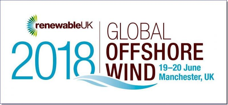 Global Offshore 2018 The Heart of the World's Largest Offshore Wind Market  In 2018, RenewableUK presents the association's 17th annual offshore wind energy conference and exhibition. Taking place over two days, 19-20 June in Manchester, RenewableUK welcomes the global industry to the heart of the UK – all in one place at one time. Exhibition Bookings - Floorplan now open!