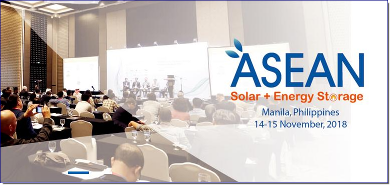 3rd Annual ASEAN Solar+ Energy Storage Congress & Expo 2018 is the largest congress focusing on solar and energy storage market in ASEAN. It will take place in Manila, the capital of Philippines, on November 14-15, 2018. The event is officially endorsed by Department of Energy. Investors over the world are gradually realizing the potentials of energy storage market in ASEAN, especially Vietnam, Malaysia, Philippines, Thailand and Indonesia. Participants from governments, utilities, independent energy producers, energy storage products manufacturers, consulting companies, associate as well as other related sectors are invited to together discuss applications, opportunities and challenges for solar and energy storage development in ASEAN market.