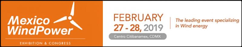 In its eigth edition, Mexico WindPower 2019 consolidates its position as Mexico's most important Congress and Exhibition event in the wind power sector. It is the only event organized by the Global Wind Energy Council (GWEC) and the Mexican Wind Energy Association (AMDEE), together with E. J. Krause Tarsus of Mexico.