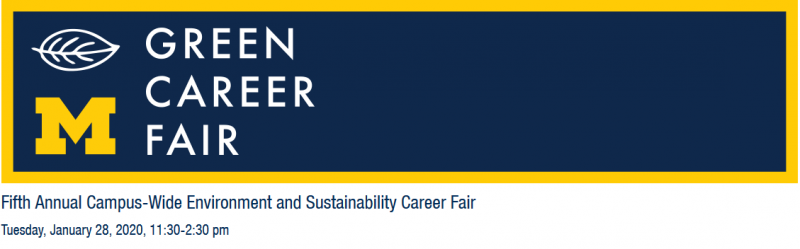 The Green Career Fair is open to University of Michigan students and alumni only.*  The School for Environment and Sustainability (SEAS) builds on more than a century of leadership in environmental science, management, policy and design at the University of Michigan. SEAS programs train leaders to tackle the unprecedented challenges of the modern era.