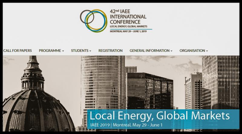 HEC Montréal is proud to host the 42nd International Association for Energy Economics (IAEE) Annual Conference in Montréal, Canada, from May 29 to June 1, 2019. The IAEE International Conference is a four-day conference on energy business, markets and policy. Over 500 international participants are to attend from all over the world. This year's Conference will focus on the development of local energy sources, their abilities and challenges to reach global markets and how local energy sources can be developed to better meet societies' energy needs.  IAEE International Conferences provide opportunities for academics, policy makers, consultants and professionals from the energy sector to get informed and contribute to leading topics and issues on energy from an economics perspective.  The event also aims to be a bridge between the latest science in energy economics and its relevance to practical hands-on experience in the energy sector.