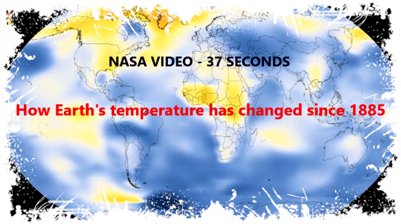 NASA gathers its planet surface temperature data from a vast network of 6,300 weather stations, ships, buoys, and Antarctic research stations. It's one of three major temperature representations of this sort, and they all show pretty much the same trend.  And this moving visual really drives the point home.