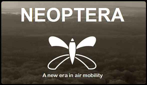 Neoptera Ltd has been developing since 2017 a unique winged Vertical Take-Off and Landing (VTOL) civil light aircraft capable of transporting 2 to 5 passengers (or equivalent payload).  Winged VTOL aircraft offer the versatility of helicopters (enabling vertical take-off from compact helipads) combined with the energy efficiency of aircraft (benefiting from the lift afforded by fixed wings to extend range).  Thanks to our aerospace experience and our understanding of the challenges involved in the design, development and certification of aircraft systems, we have concentrated our efforts on safety and simplicity whilst at the same time offering a truly novel concept.