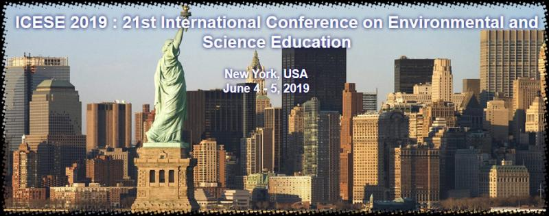 The ICESE 2019 : 21th International Conference on Environmental and Science Education is the premier interdisciplinary forum for the presentation of new advances and research results in the fields of Resource Conservation and Restoration Ecology. The conference will bring together leading academic scientists, researchers  and  scholars  in  the  domain  of  interest  from  around  the  world.  Topics  of  interest  for submission include, but are not limited to: Educational sciences Science education Science content and Scientific method Technology Civic engagement The standards for science Physical, life, earth, Science education in Research training Fields of science Physics education Chemistry education Mathematics education Pedagogy Culture Science education Next generation science Informal science Teaching of facts and Educational policy Policy impacts on Management of education Education quality