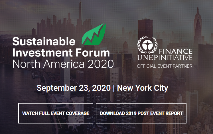 Although we seem to be on the right trajectory – up and to the right – how do we mobilize the billions of dollars required to reach the 17 Sustainable Development Goals and keep below 1.5°C?  As finance becomes the number one focus for the UN SDGs, the Sustainable Investment Forum North America 2019 – organized by Climate Action, in official partnership with the UNEP Finance Initiative – returned for its 4th edition to explore the many aspects of responsible investment. Held on September 25, 2019 during Climate Week NYC, the Forum addressed key topics from climate-aligned investing to ESG integration to data and disclosure.