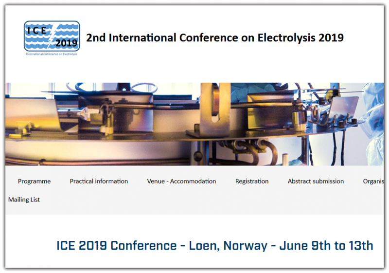 Scope for the ICE series  We continue the success of the first international electrolyser conference (ICE2017) in Copenhagen where a whole conference was devoted to the topic of electrolysis for energy conversion. ICE2019 will be the second instalment of what we hope will be a thriving conference series on electrolysis for energy conversion.  The research in all aspects of electrolysis for energy conversion and storage is growing rapidly. Demonstration and commercial installation of electrolysers coupled with renewable energy sources have grown from sub-MW installations a few years ago to tens of MW today. There is an increased recognition and awareness that the conversion of electrical energy to storable chemicals and fuels is an inevitable part of the green transition from a fossil based to a sustainable energy system.