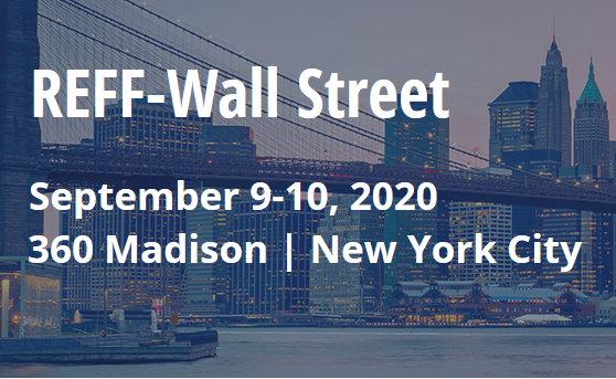 REFF-Wall Street is America's premier renewable finance event. Join the industry's senior investors, executives and other top transactional professionals to align strategies in the next phase of market maturity at REFF-Wall Street 2020.  Explore last year's agenda, which united over 200 renewable industry leaders for a powerful two-day event.