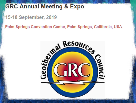 The Geothermal Resources Council (GRC) has announced the venue for the next GRC Annual Meeting & Expo. The 43 rd edition of the geothermal energy event will be held in Palm Springs, California, USA, from September 15 ‐ 18. Come and help the geothermal community speak with one global voice. In addition to the high ‐ quality presentations of the Technical Sessions there will be workshops, fieldtrips, an expo and numerous networking opportunities.