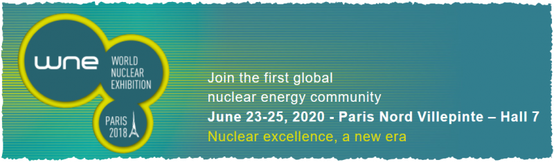 Make your nuclear project alive whatever its stage, from the fuel cycle to the waste management and dismantling:     • meet about 850 actors from all over the world covering the whole nuclear supply chain  • attend specific workshops  • source your future partners with pre-organized business meetings    Discover the latest innovations and stay posted about the trends of the industry, regulation and training:     • attend high-level Panel Discussions about the challenges the sector is facing with the most prestigious International experts  • attend special awards ceremonies highlighting the nuclear excellence  • share experience and network with your peers in a pleasant atmosphere