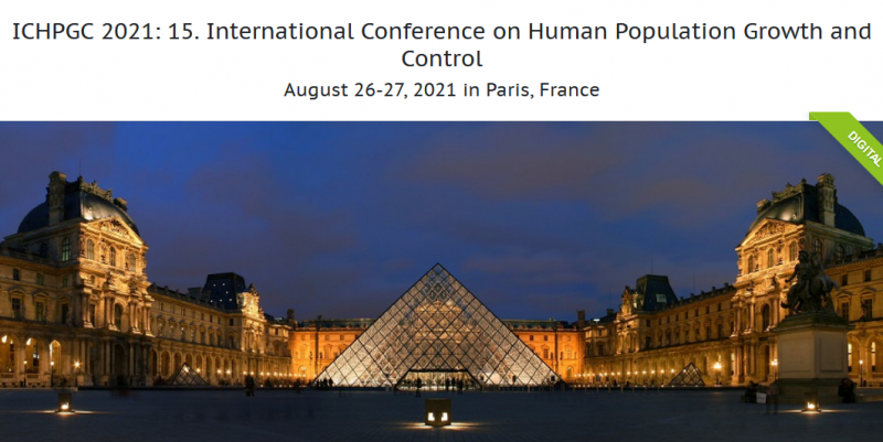 International Conference on Human Population Growth and Control aims to bring together leading academic scientists, researchers and research scholars to exchange and share their experiences and research results on all aspects of Human Population Growth and Control. It also provides a premier interdisciplinary platform for researchers, practitioners and educators to present and discuss the most recent innovations, trends, and concerns as well as practical challenges encountered and solutions adopted in the fields of Human Population Growth and Control