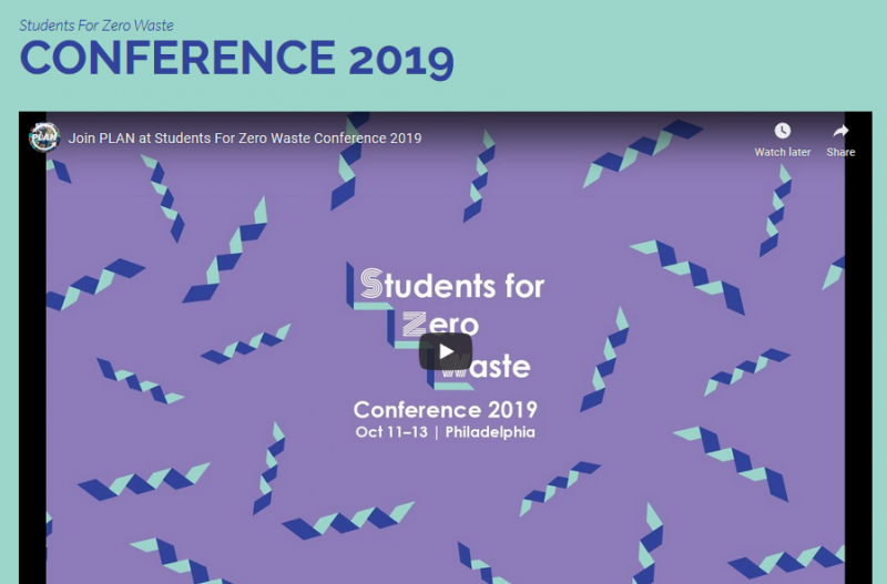 The 6th Annual Students for Zero Waste Conference (SZW19) will bring together 600 students, staff, industry innovators, activists, and community members from across the country in Philadelphia and the University of Pennsylvania on Friday, October 11 to Sunday October, 13, 2019! The three day event includes student-led workshops, professional trainings, hands-on activity sessions, affinity group meet-ups, and panels covering topics related to waste and environmental justice.