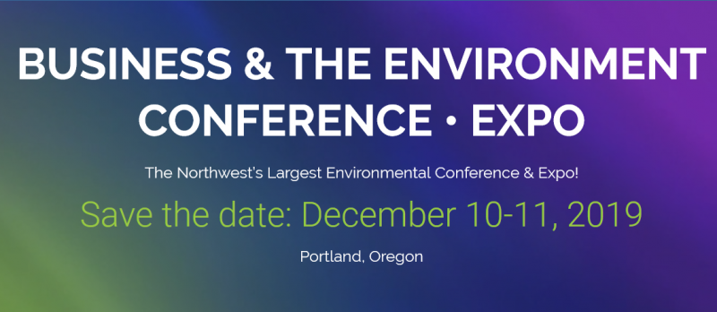 "Business & The Environment is the region's largest environmental conference and expo. As the ""go-to"" event for environmental professionals in the northwest, the conference provides you with the latest information and best practices in environmental protection & compliance, new technologies & services, sustainable business practices, and trending policy issues.  Business & The Environment focuses on industry-wide issues and is a collaborative endeavor presented by the Northwest Environmental Business Council (NEBC), Oregon Department of Environmental Quality (DEQ) and Washington Department of Ecology (Ecology).  Business & The Environment convenes the environmental business community for two days of learning, connecting, and doing business. As a cross-sector conference, Business & The Environment covers the environmental industry spectrum, attracting business owners, executives, and environmental managers."