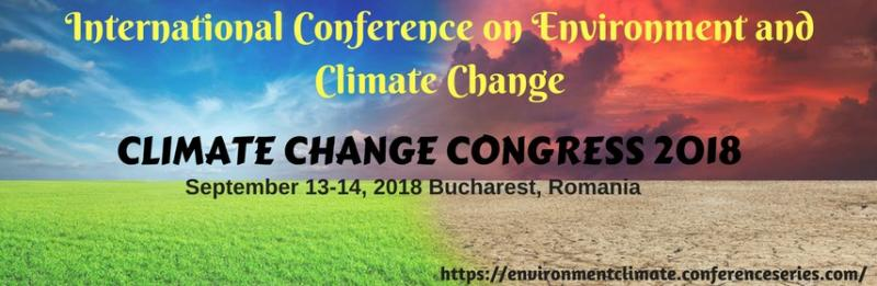 "Environment and Climate Change conference 2018 is arranged with the subject ""Exploring New Horizons of Climate Change"" to cover the wide extend of critically vital sessions of Climate Change. Climate change is a change in the statistical distribution of climate patterns when that change keeps going for an expanded period of time (i.e., decades to millions of years). Climate change may allude to an alter in normal climate conditions, or in the time variety of climate inside the setting of longer-term normal conditions. Climate change is caused by variables such as biotic forms, varieties in sun based radiation received by Earth, plate tectonics, and volcanic emissions. Certain human activities have been recognized as essential causes of progressing climate change, regularly alluded to as global warming."