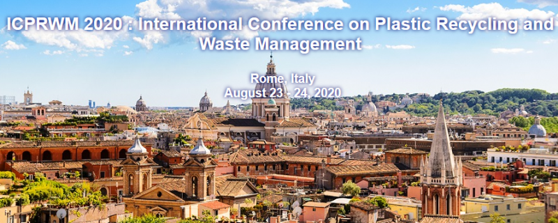 ICPRWM 2020: International Conference on Plastic Recycling and Waste Management aims to bring together leading academic scientists, researchers and research scholars to exchange and share their experiences and research results on all aspects of Plastic Recycling and Waste Management. It also provides a premier interdisciplinary platform for researchers, practitioners and educators to present and discuss the most recent innovations, trends, and concerns as well as practical challenges encountered and solutions adopted in the fields of Plastic Recycling and Waste Management.