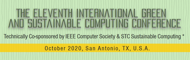San Antonio 1.jpg IGSC 2020 (The Eleventh International Green and Sustainable Computing Conference) provides a forum for presenting and discussing innovative research on a broad range of topics in the fields of sustainable and energy-efficient computing and computing for a more sustainable planet. The conference consists of technical papers, panels, workshops, PhD Forum, and special sessions on these topics.  More details on topics of interest are provided in call for papers