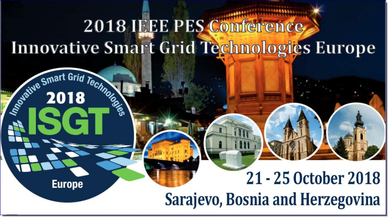 I EEE  ISGT  Europe  2018  is  the  8th  IEEE  PES I n n o v a t i v e   S m a r t   G r i d   Te c h n o l o g i e s Conference  sponsored  by  the  IEEE  Power  & Energy Society (PES). It focuses on industrial and manufacturing  theory  and  applications  for  the wide   use   of   information   and   communication technologies   and   integrated   renewable   and distributed energy resources on the electric grid.