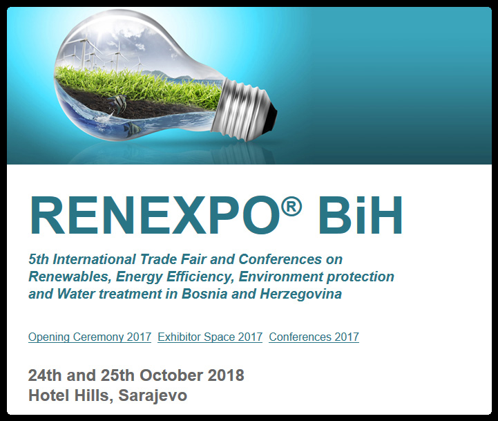 RENEXPO® BiH is the most important platform for gathering investors, decision makers, representatives of ministries and municipal authorities, as well as business leaders in renewable energy, energy efficiency, water and environmental sectors.  The introduction of market potential in the region, investment and project opportunities and side programs that we offer, connects around 1500 visitors and 700 conference participants each year, both local and international experts from all over Europe.