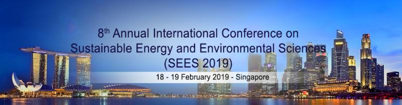 Sustainable Energy and Environmental Sciences (SEES) Conference  Today's challenge is to inspire the environmental science community through the interchange of knowledge and sharing of best practices in a global-scale context and toward advances for a low-carbon future. The Sustainable Energy and Environmental Sciences (SEES) Conference 2019, a premiere Academic Research Conference serves as a platform for researchers, academics and scientists from the environmental science community and to provide an avenue for robust exchange of information on technological advances, new scientific achievements, and the effectiveness of various environmental regulation programmes.