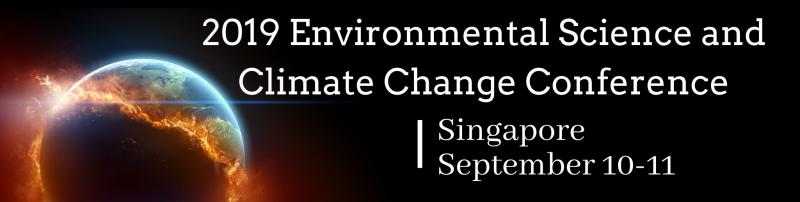 The 2019 Environmental Science and Climate Change Conference (2019ESCC), which will be held in Singapore from September 10-11 will be focusing on the recent and upcoming climate changes and measures to be taken to save the Earth's environment. This medical congress will bring together leading scientists and reformers into one place to discuss the severity of the climate change issue.