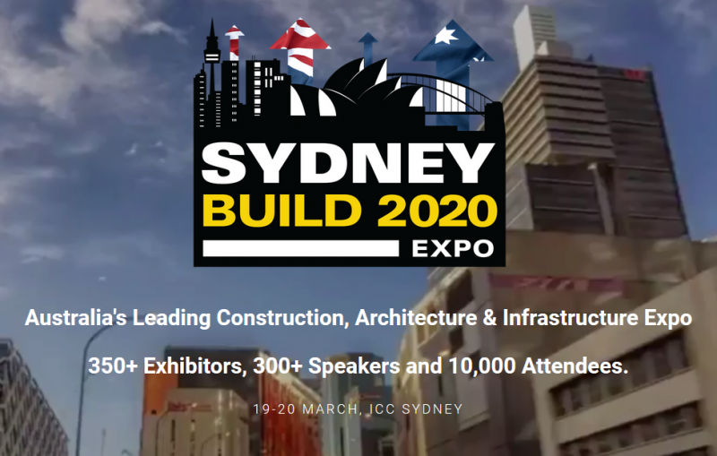 Sydney Build is Australia's Leading Construction, Architecture and Infrastructure Expo. Sydney Build is co-hosted with the Roads and Transport Expo, and CIVENEX Infrastructure Exhibition  Sydney Build is free to attend and features:      10,000+ Attendees (Contractors, Developers, Architects, Engineers, Government, Construction Professionals and more)     350+ Exhibitors showcasing the latest products and solutions     300+ High level Speakers from across Australia     21 Summits across 8 Stages