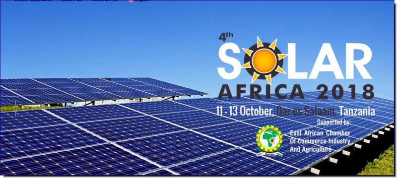 The 04th Solar Africa - Solar Exhibition In Tanzania 2018 is a sector of the economy that transforms various resources into constructed physical economic and social infrastructure necessary for socio-economic development. The Tanzania Solar Products, Eqpts. & Machinery industry continues to be the most exciting and developing sectors in the economy of the country, attracting thousands of investors