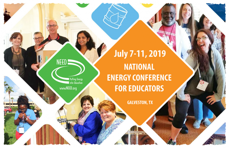 The 2019 Energy Conference for Educators brings together educators that are passionate about bringing energy education to their classrooms. In five interactive days in Galveston, the conference provides teachers with the most up-to-date information on all aspects of energy including the science of energy, sources of energy, transportation, electricity, efficiency and environmental and economic impacts.  Participants receive the training and materials to implement innovative hands-on energy units in their classrooms, multi-disciplinary teams, and after-school programs. NEED leaders at the conference help participants develop specialized units that meet state standards and can be utilized with students of all learning styles.