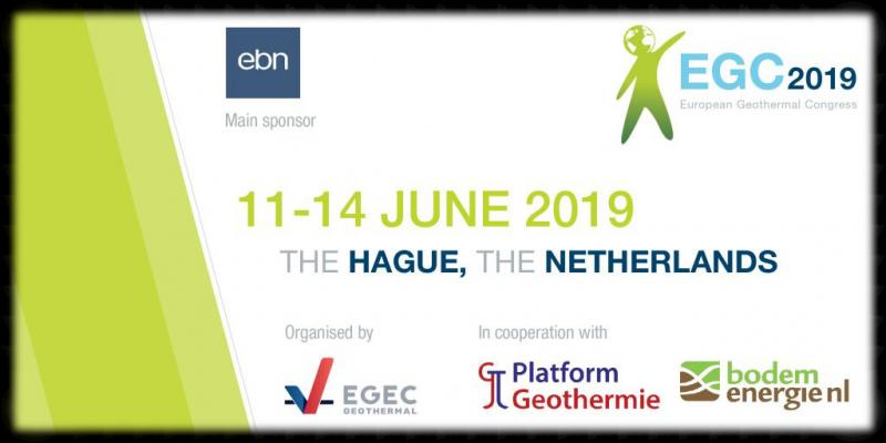 "EGEC, in cooperation with Stichting Platform Geothermie, BodemenergieNL, and the main event sponsor Energie Beheer Nederland B.V. (EBN) are pleased to announce that the 2019 edition of the European Geothermal Congress (EGC) will be held on 11-14 June 2019 at the World Forum, The Hague, in The Netherlands.  Organised every 3 years by EGEC, the European association representing the geothermal sector, EGC is the largest geothermal congress in Europe. Hosting a combination of events for all the geothermal sector, EGC is a unique opportunity for stakeholders from all parts of the sector, whether academic, industrial, financial, policy-making, or societal, to come together and to learn, finding new ways to progress.  ""We expect that geothermal solutions will cover a significant part of the future heat demand, in households as well as in industrial applications,"" said Jan Willem van Hoogstraten, CEO of EBN. ""In that perspective, we see it as a privilege to be the main sponsor of the EGC 2019, and to be involved in all geothermal processes."""
