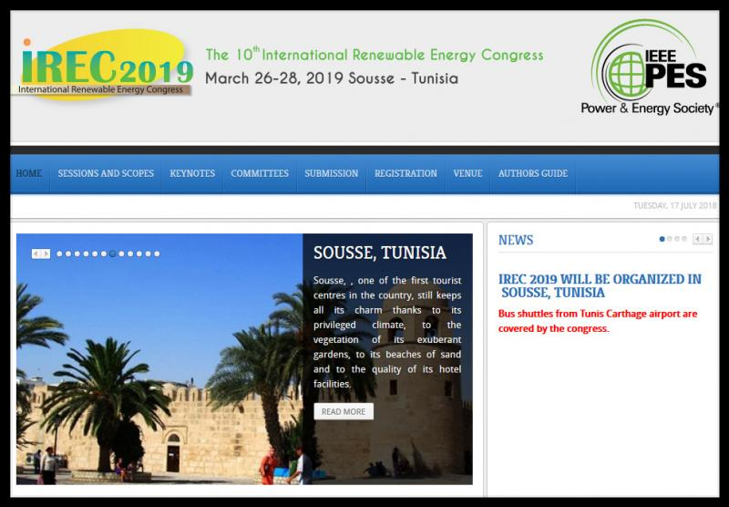 The International Renewable Energy Congress (IREC) provides a forum for researchers, academicians, scientists and industrial professionals around the world on recent developments in the fields of renewable energy. The congress consists of keynotes, oral sessions and poster presentations. Considered as a catalyst for research works, the IREC publishes the best presented papers in partner journals.  Authors from academia as well as industry working within the scope of the congress subjects are invited to submit their papers. Submissions will be peer reviewed by our International Program Committee on the basis of full manuscripts. Acceptance will be based on quality, originality and relevance. Contributions should be original and not published elsewhere or submitted for publication during the review period.