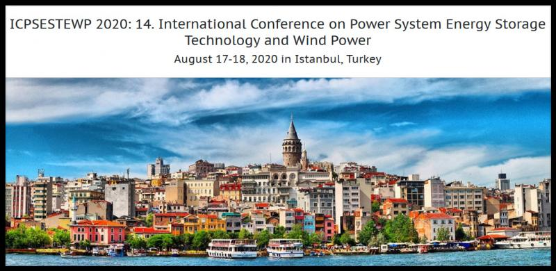 ICPSESTEWP 2020: 14. International Conference on Power System Energy Storage Technology and Wind Power aims to bring together leading academic scientists, researchers and research scholars to exchange and share their experiences and research results on all aspects of Power System Energy Storage Technology and Wind Power. It also provides a premier interdisciplinary platform for researchers, practitioners and educators to present and discuss the most recent innovations, trends, and concerns as well as practical challenges encountered and solutions adopted in the fields of Power System Energy Storage Technology and Wind Power