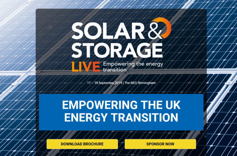 Solar & Storage Live is the UK's largest renewable energy exhibition. The UK will see a subsidy free market as we move forward into a new era of energy. Solar & Storage Live brings all aspects of the market together to showcase, analyse and discuss how this energy transition will move forward.  Over 4,000 visitors will over the 3-day exhibition. The agenda focuses on solar, battery & energy storage, EV infrastructure and smart energy including homes, cities, meters, grids and technology. Residential, C&I and utility scale markets will be covered across the UK, Europe and the rest of the world.