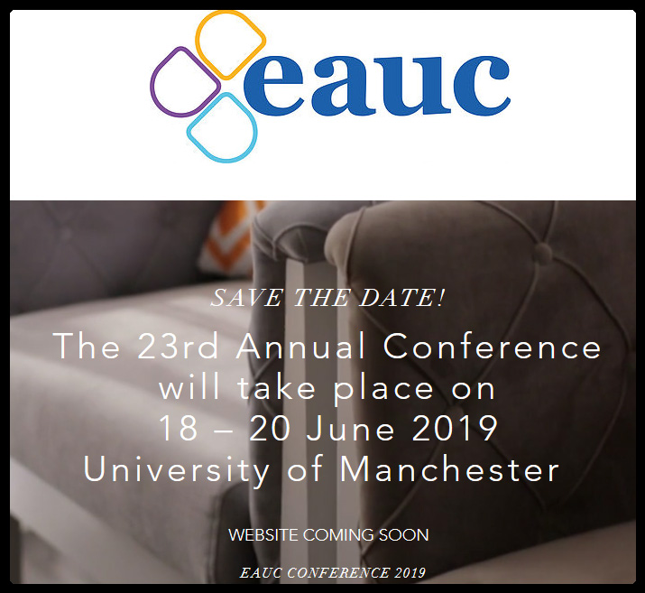 SAVE THE DATE! The 23rd Annual Conference will take place on 18 – 20 June 2019 University of Manchester