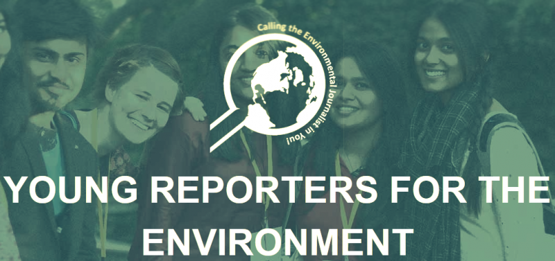 Young Reporters for the Environment (YRE) is a network of international youth engaged in education for sustainable development, coordinated by the Foundation for Environmental Education (FEE). The goal of YRE is to engage youth in resolving environmental problems and issues.  Young Reporters, aged between 13 and 21 in more than 25 countries, investigate environmental problems and issues and propose solutions through published investigative reporting, photographic and video journalism.